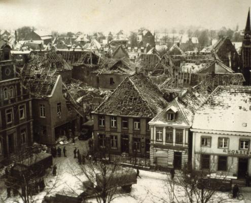 Eine Luftmine zerstörte die Innenstandt von Borken (1941)
